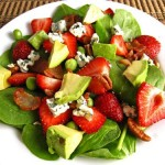 Strawberry and Avocado Spinach Salad 500